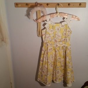 The Childrens Place Size 6X Yellow Daisy Dress
